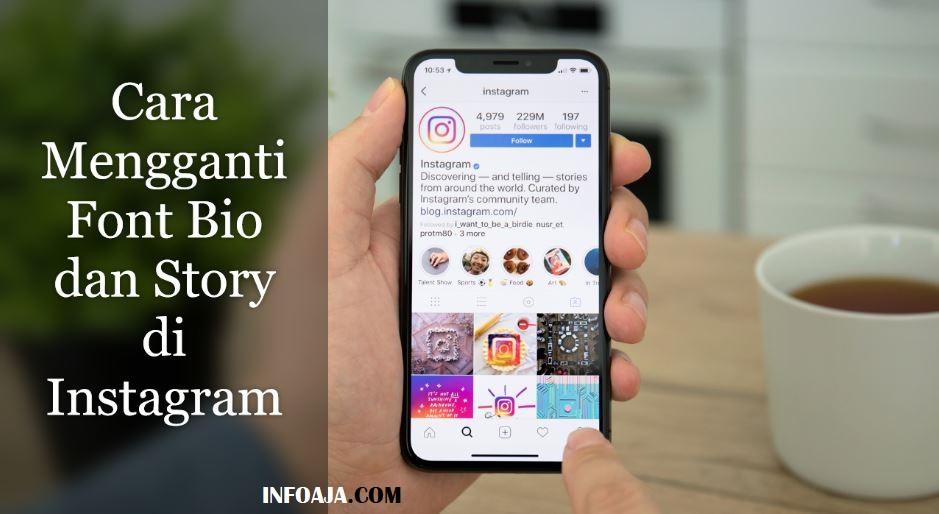Cara Mengganti Font Bio dan Story di Instagram