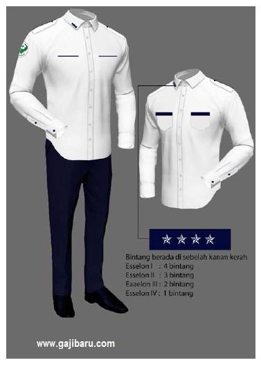 pakaian dinas pns pria kemenkes kamis