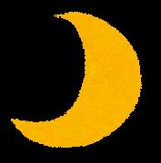 天気のマーク「月」