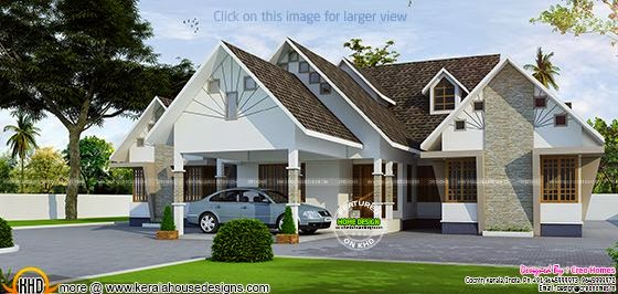 Proposed house at Changanassery, Kerala