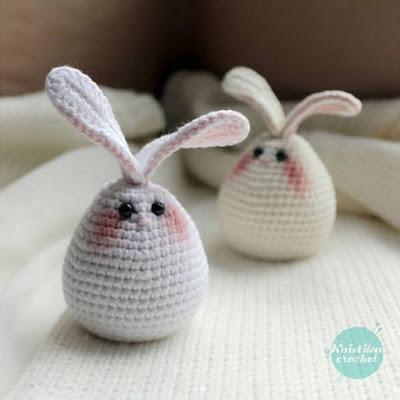 Пасхальное яйцо-кролик крючком