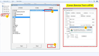 How open the Canon Service Tool v.4718