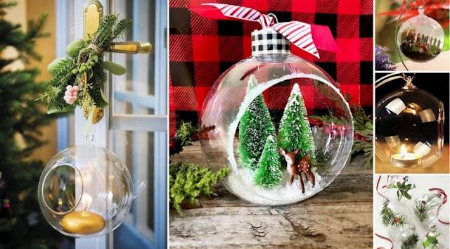 Ιδέες για Χριστουγεννιάτικες Γυάλινες Μπάλες με άνοιγμα
