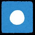 青い再生ボタンのイラスト(録音)