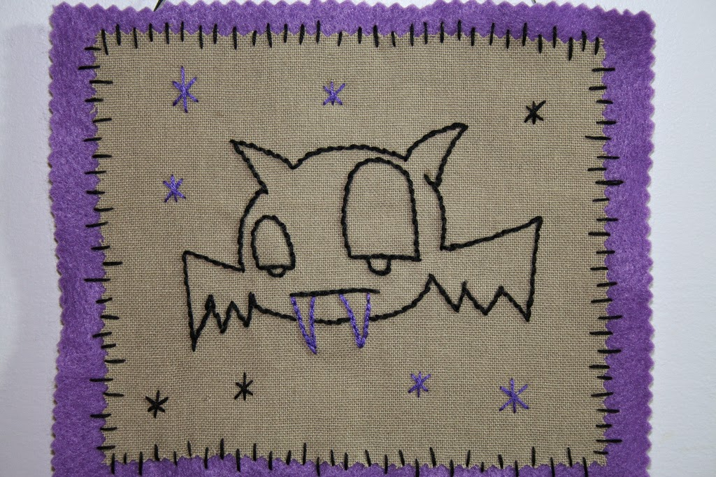 bat embroidery