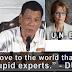 """Kaya Kong Ipahiya Ang UN Experts Sa 5 Tanong Lang"" - Duterte"