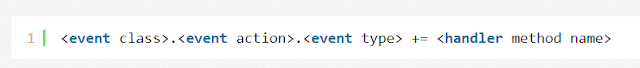 creating handler and events