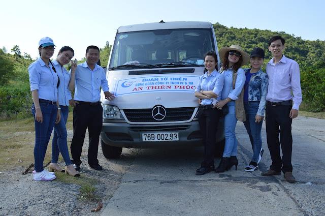 Vận tải hành khách tại Phú Yên - Đoàn từ thiện đang trên đường  tới Xã Ea Lâm – Huyện Sông Hinh – Tỉnh Phú Yên