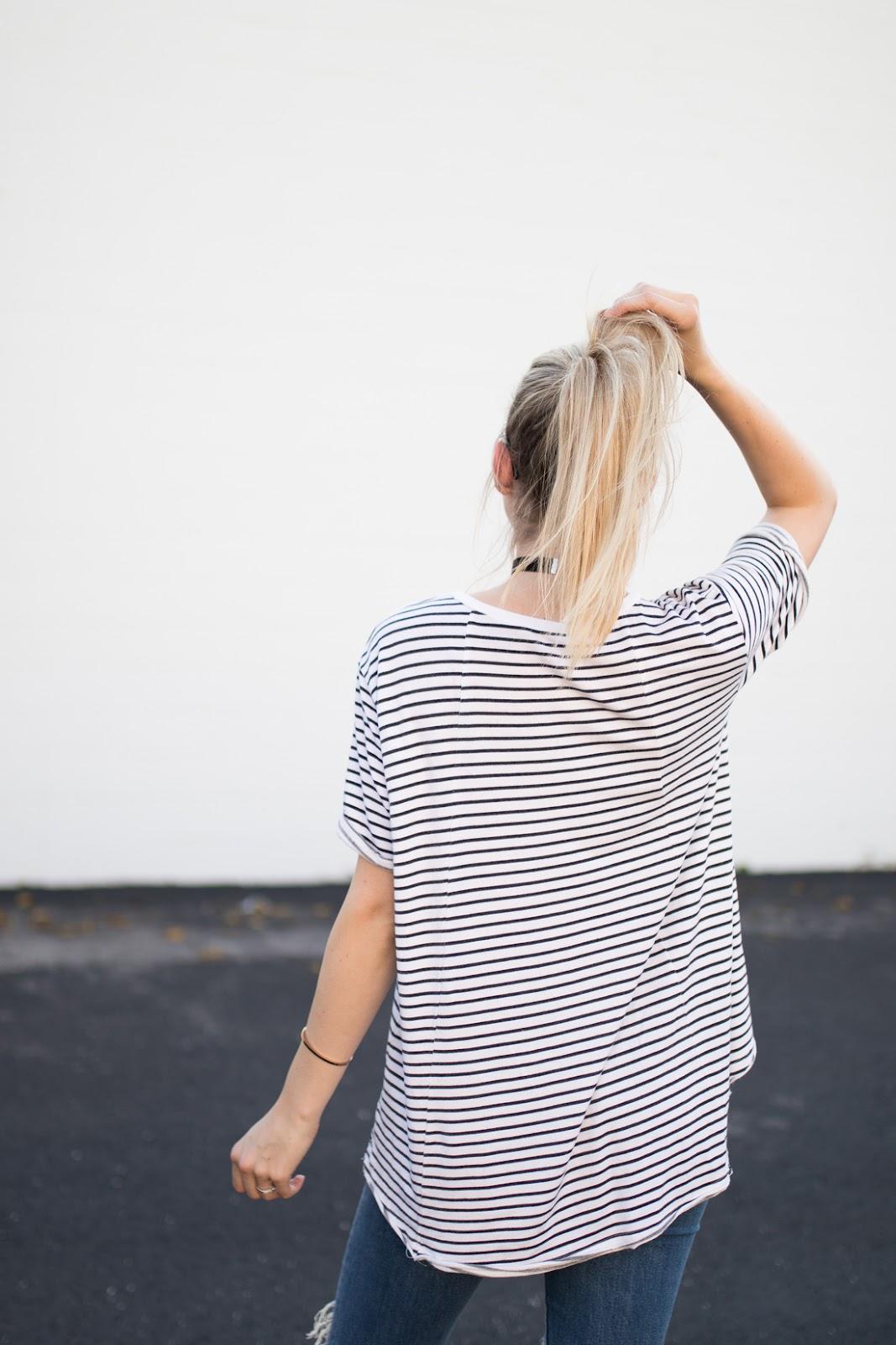 Casual stripe tee