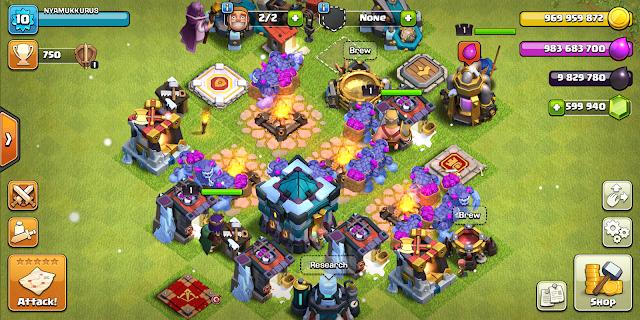 Screenshot Clash of Clans Mod Apk Town Hall 13