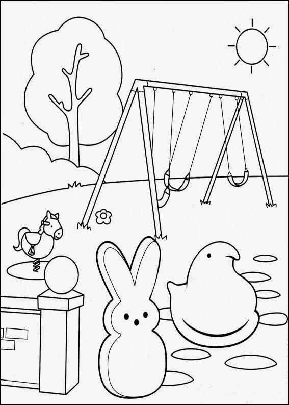 easter peeps coloring pages - photo#13