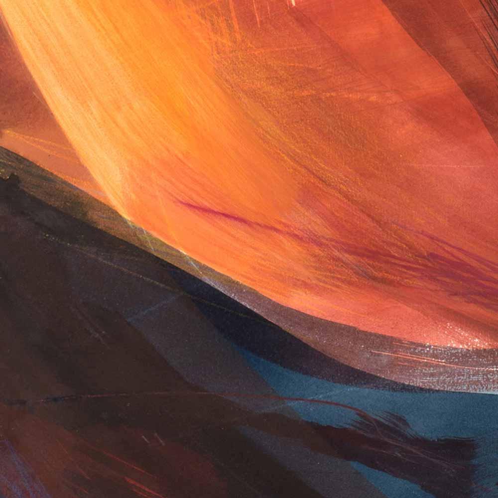 Aquarelle détail 7, 110 x 144 cm, mai 19 © Annik Reymond