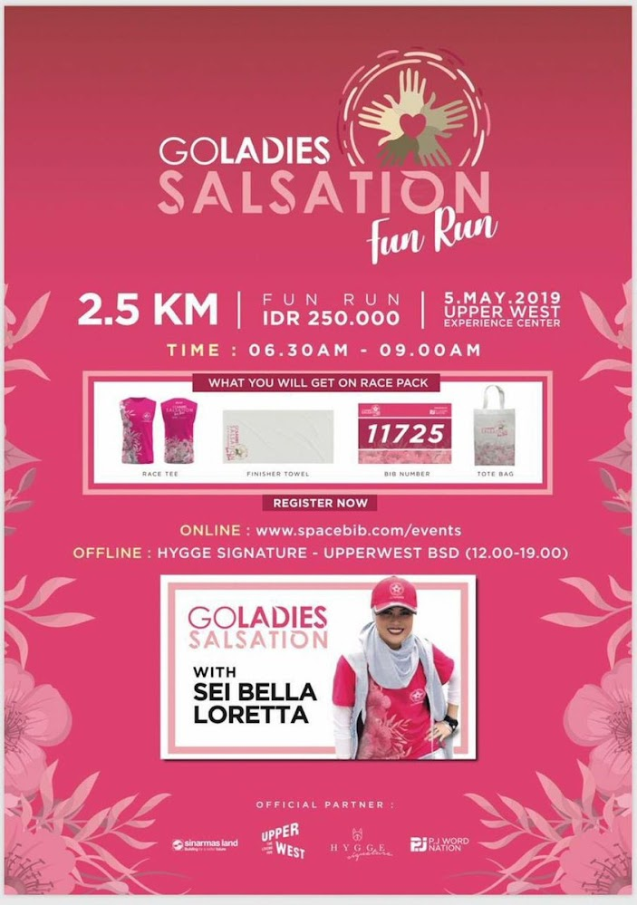 Goladies Salsation Fun Run • 2019