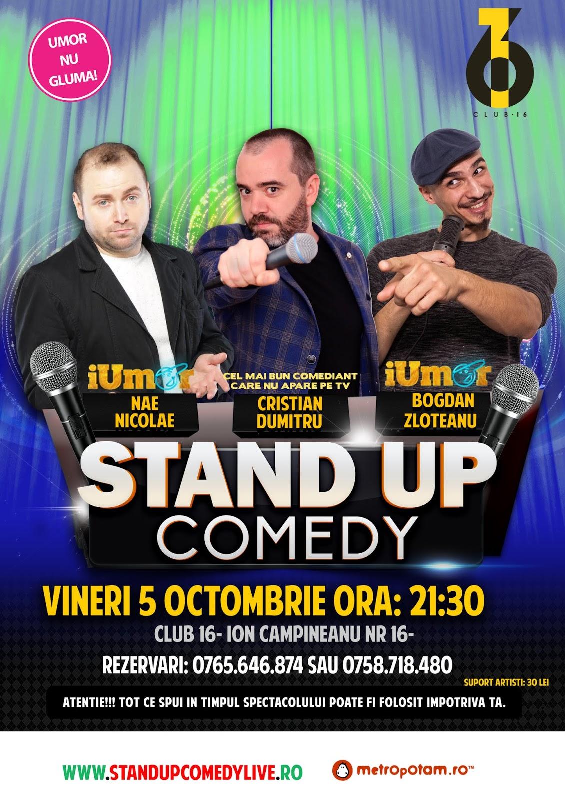 Stand-up Comedy Bucuresti Vineri