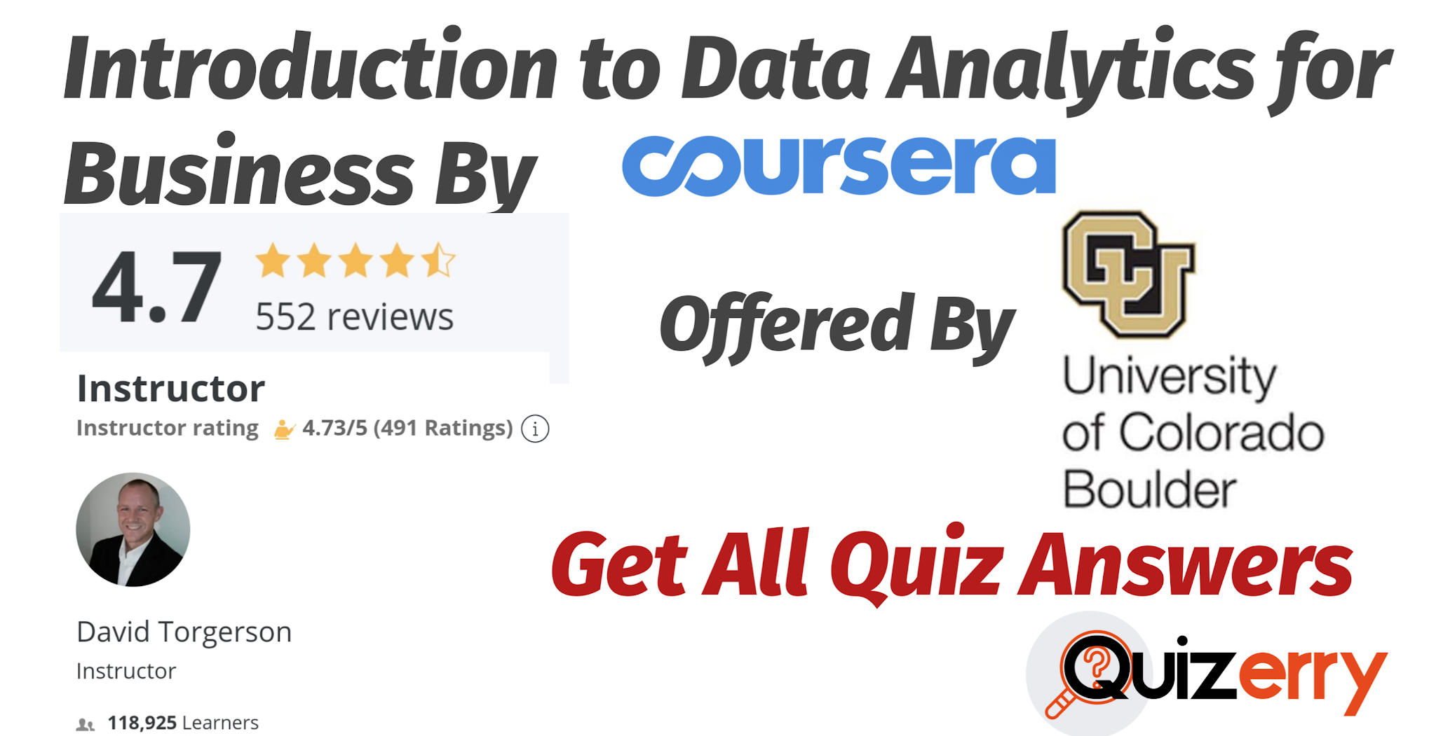 Introduction to Data Analytics for Business Coursera Quiz Answers Free