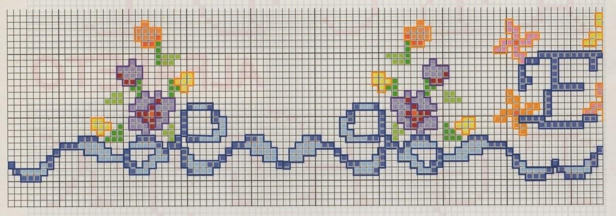 Professione donna schemi a punto croce iniziali ricamate for Immagini di punto croce