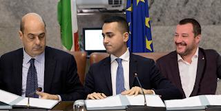 Zingaretti Di Maio Salvini