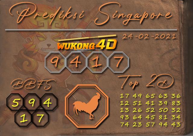 PREDIKSI TOGEL SINGAPORE WUKONG4D 24 FEBRUARY 2021