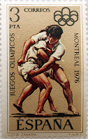 JUEGOS OLÍMPICOS MONTREAL 1976. LUCHA CANARIA