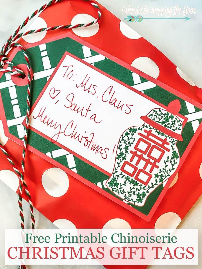 Free Printable Chinoiserie Chic Christmas Tags