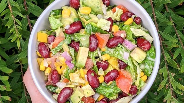 recette, salade, mexicaine, vinaigrette
