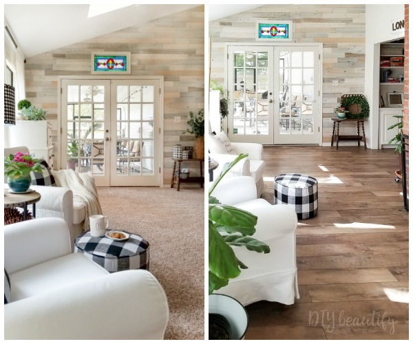 Affordable and Durable Farmhouse Laminate Floors   DIY beautify farmhouse laminate floors