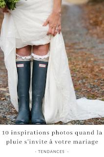 10 inspirations photos quand la pluie s'invite à mon mariage blog unjourmonprinceviendra26.com