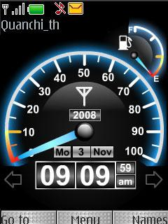 Theme Speed Clock for Nokia C1-01