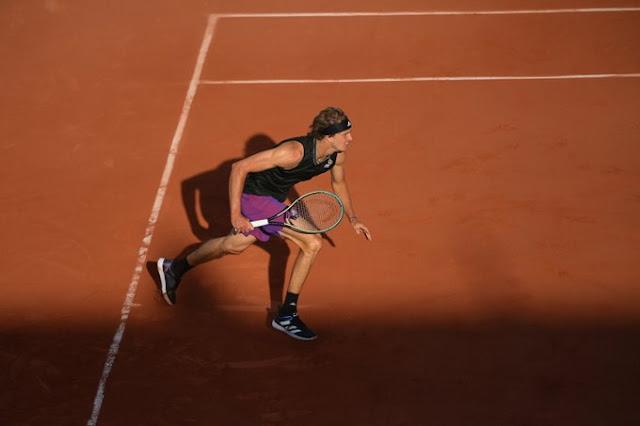 Alexander Zverev na estreia em Roland Garros