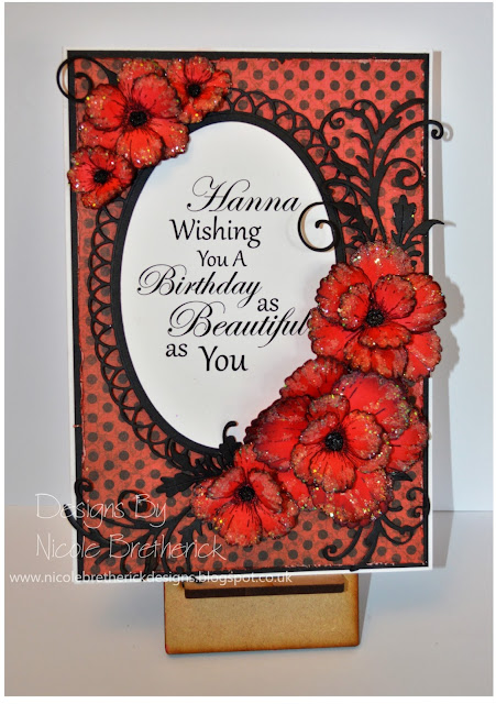 Heartfelt Creations Blazing Poppy Card
