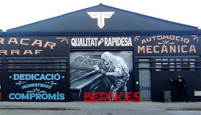 pintura mural taller vehículos