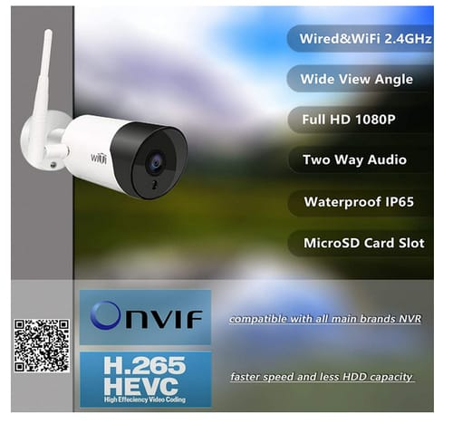 WiTi W3 1080P IP Camera with Wide Angle