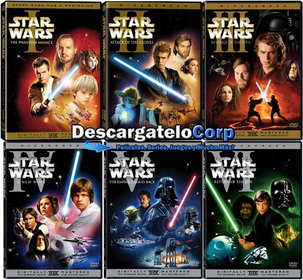 Star Wars Saga Completa Hd 1080p Latino Descargatelocorp