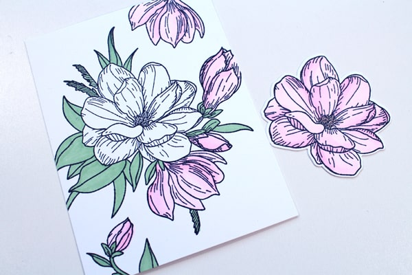 How to make a handmade floral card using rubber stamps.