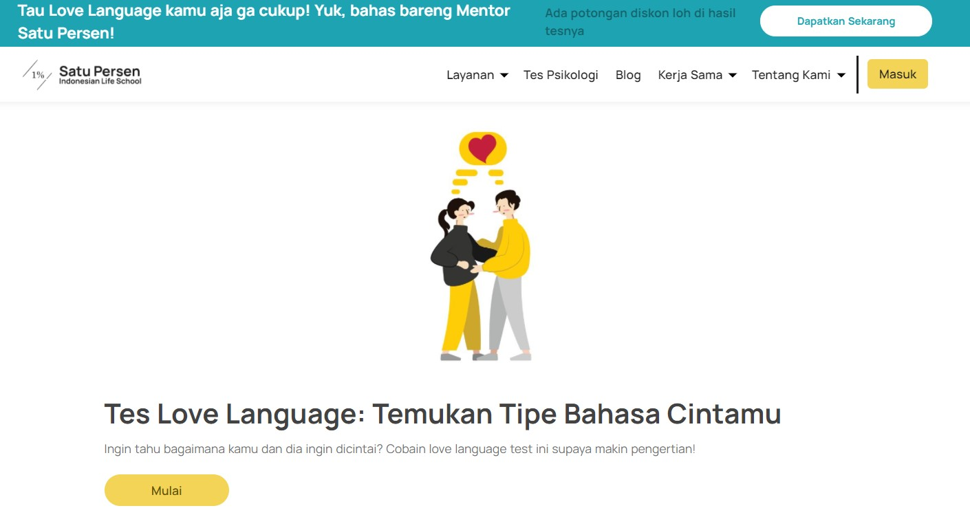 Satu Persen Love Language