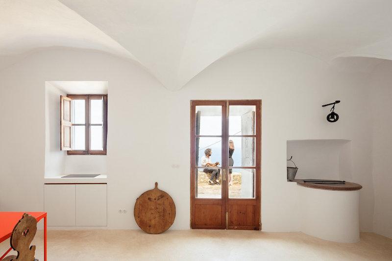 Salón y cocina casa en Mallorca