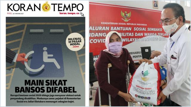 Terungkap, Jatah Bansos Panti Jompo dan Penyandang Disabilitas juga Disikat