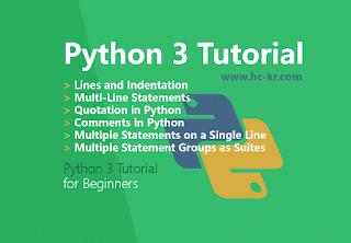 Python 3 Tutorial : Basics Syntax in Python 3