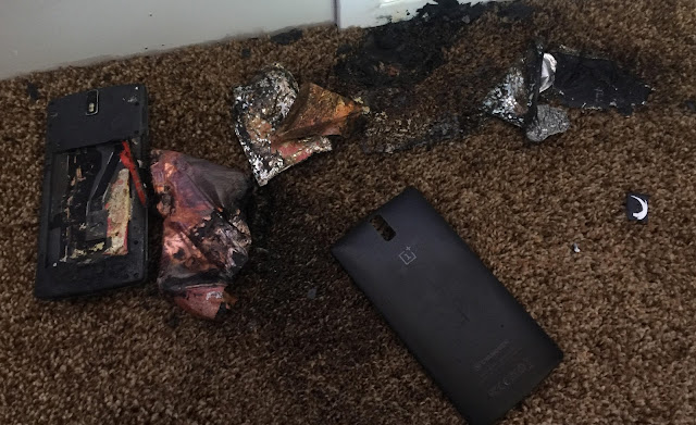 OnePlus One explodes while charging