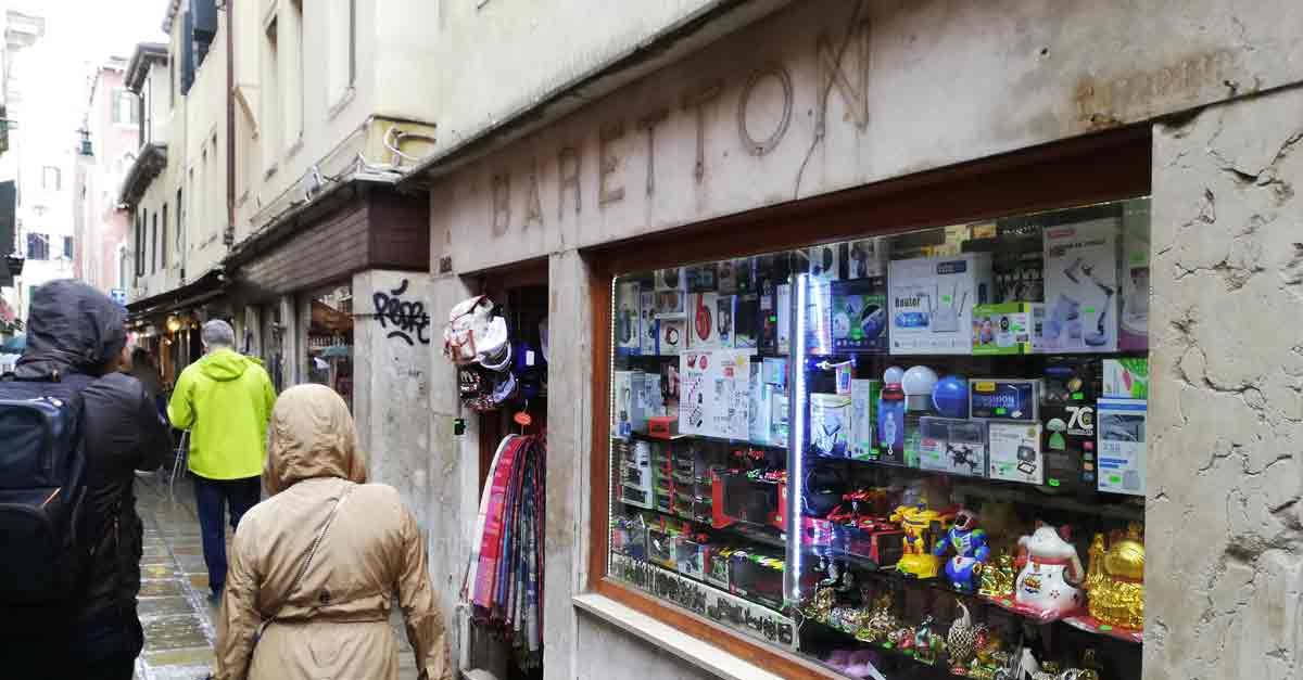 L'ex negozio di alimentari Baretton in Salizada San Canciano