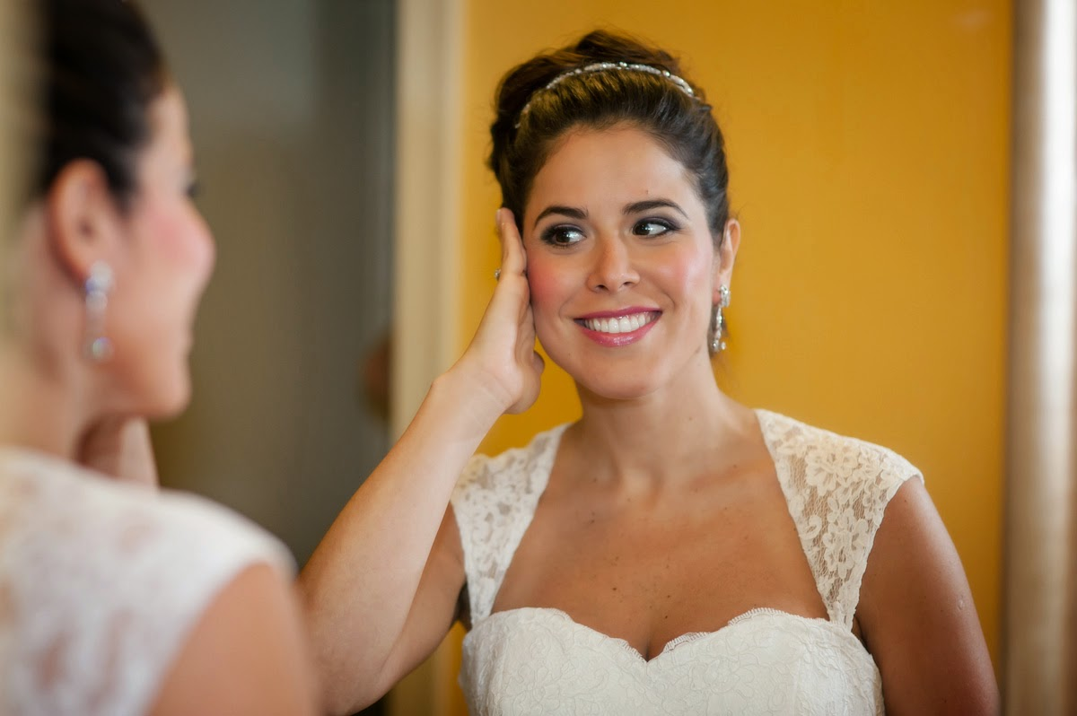 Bride Full Of Happiness On Her Big Day