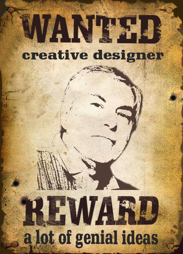 poster personalizado com a palavra wanted e reward