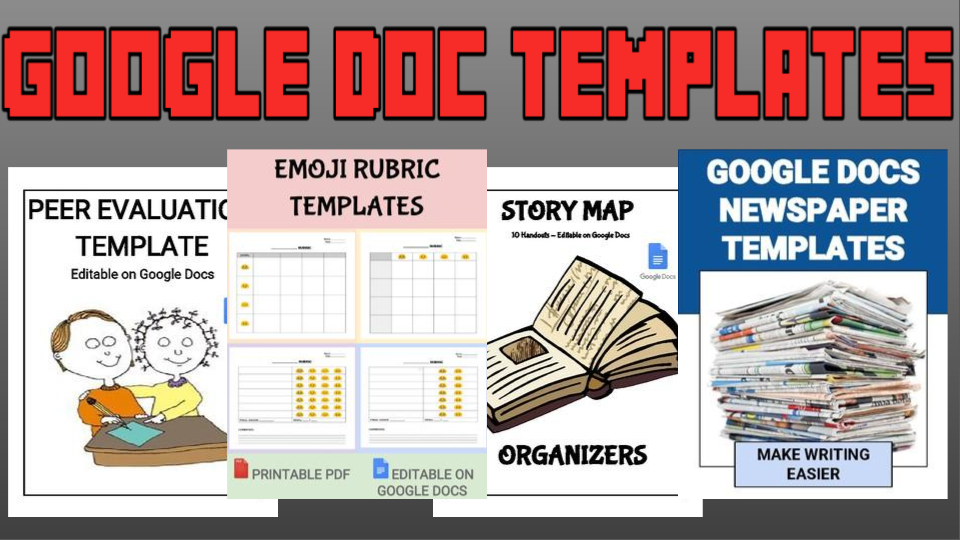 RoomBop Blog: 4 Google Doc Templates For Your Students