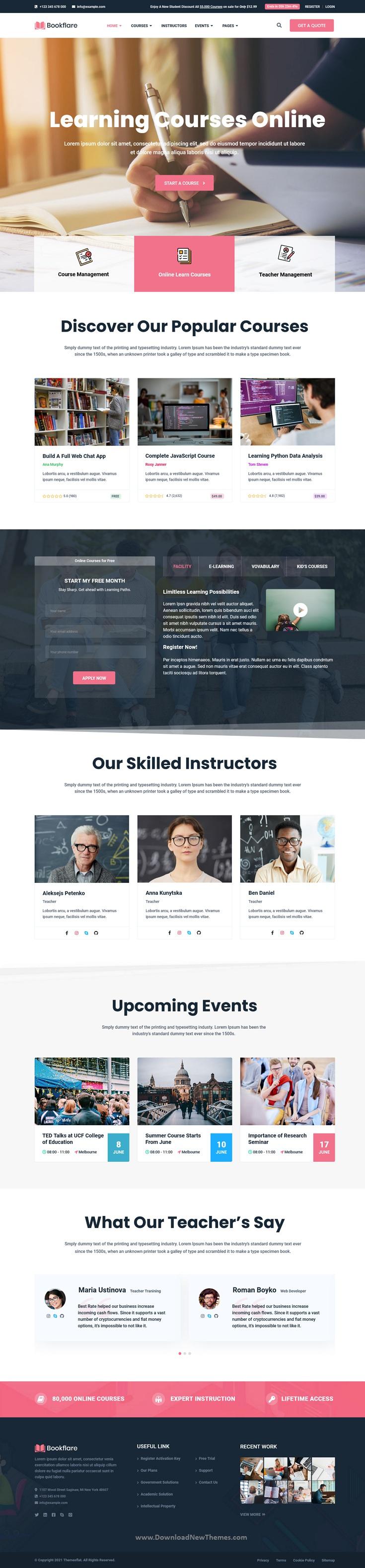 Modern Education & Online Learning Elementor Template Kit
