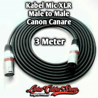 Kabel Mic XLR 3 Meter Male to Male Jack Canon Canare