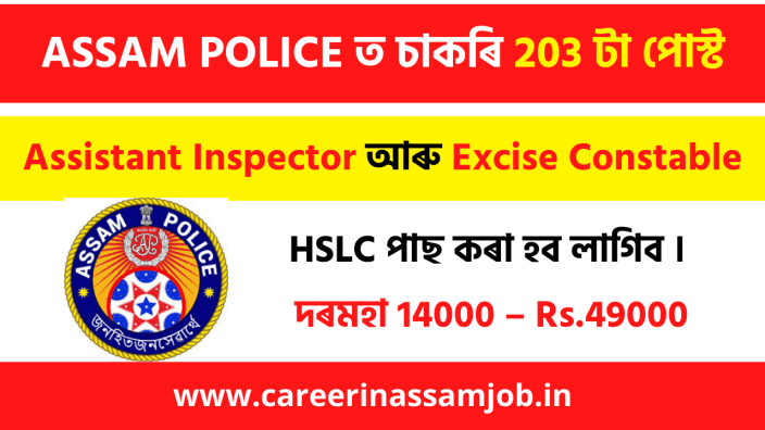 Assam Sakori | Police jOb In Assam