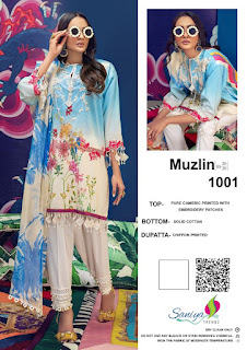 Saniya Trendz Muzlin pakistani Suits wholesale Price