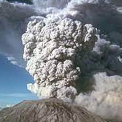 Gunung Merapi Muntah