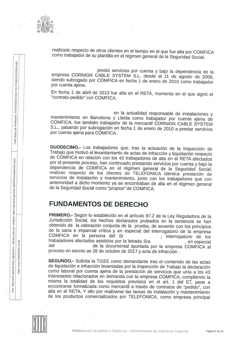 Contratas, Subcontratas y Autonom@s de Telefónica   empleo ...