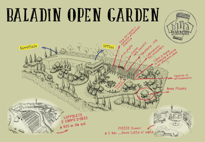 Baladin Open Garden mappa